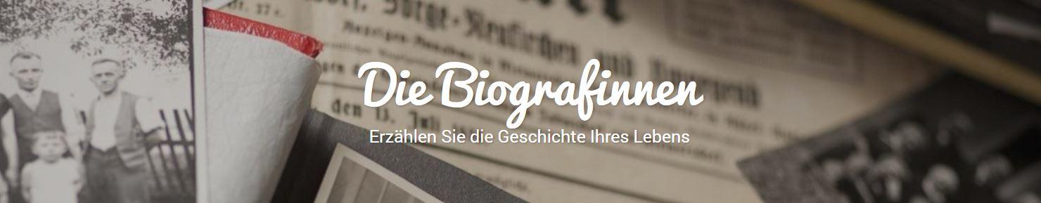 Banner der Webseite www.die-biografinnen.de